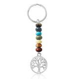 Tree of Life Chakra Keychain with Healing Gemstones