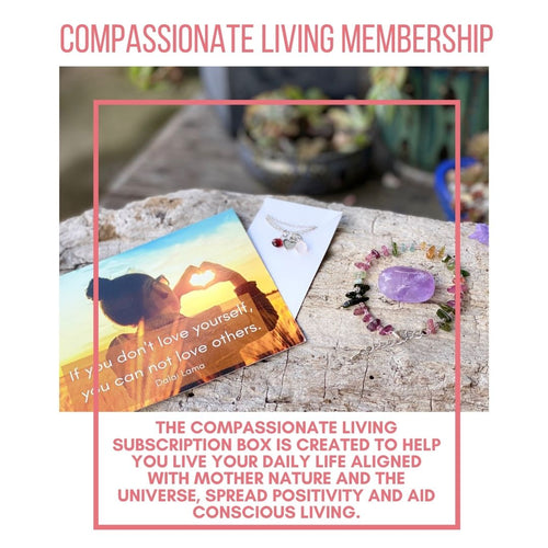 February 2021 Compassionate Living Box to help live your daily life aligned with Mother Nature and the Universe: We are practicing the art of Self-Love