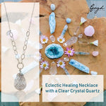 Sterling Silver Eclectic Crystal Healing Necklace