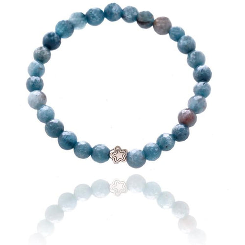 Blue Agate Bracelet for Important Decisions - Mindfulness Jewelry
