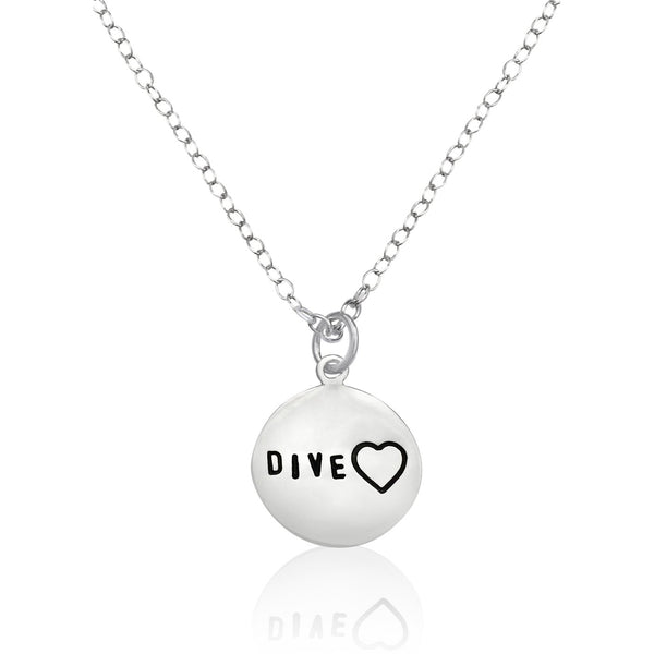 Sterling Silver Diveheart Necklace