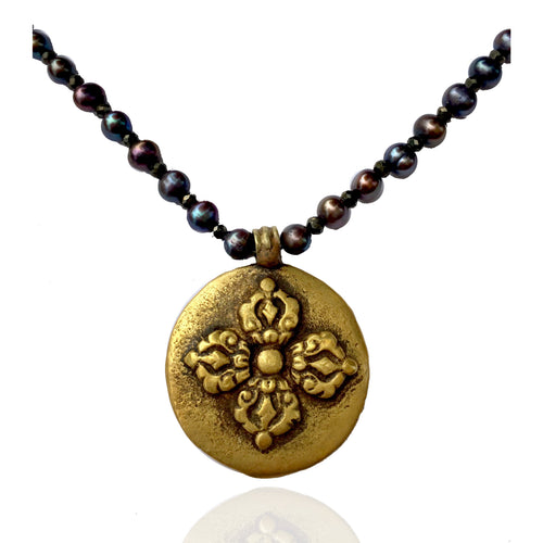 Dorje Necklace - Symbol of Enlightenment; the Thunderbolt that beats ignorance away.