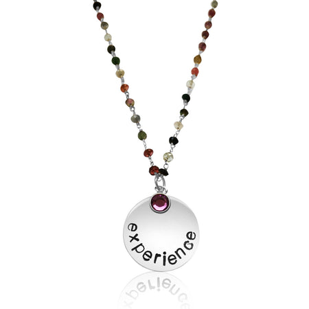 Motivational Be Here Now Traveler Necklace (GF)
