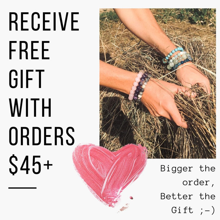 Receive free gift with orders $45+