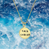 gold Fxck Cancer necklace