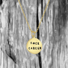 gold Fuck Cancer necklace