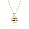 Be bold and say Fuck Cancer with this gold Fxck Cancer necklace