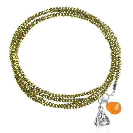Green Crystal Wrap Bracelet to Restore Depleted Energy