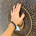 Lapis Lazuli Bracelet with Hamsa Hand to Ward off Evil and for Self-awareness