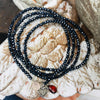 Loving Heart Midnight Dark Crystal Wrap Bracelet