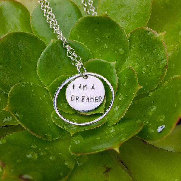 I am a Dreamer - Sterling Silver Necklace.