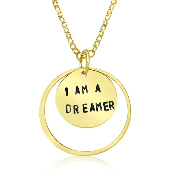 I am a Dreamer - Gold Affirmation Necklace