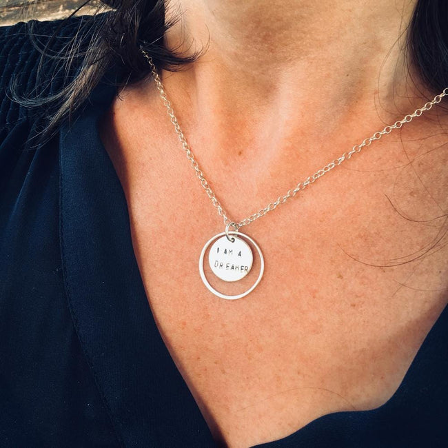 I am a Survivor Sterling Silver Necklace. I am a survivor, not a victim. This affirmation is for my fellow warriors, light-bringers, and believers in another chance to be new. Wear this I am a Survivor Silver Inspirational Necklace as an Affirmation to Survive.