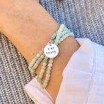 "I am Brave Affirmation Bracelet with Amazonite for Courage. Repeat the ""I am Brave"" affirmation every morning during your routine! This will set the intention for the rest of your day (and perhaps life) - to travel into the unknown to try something new."
