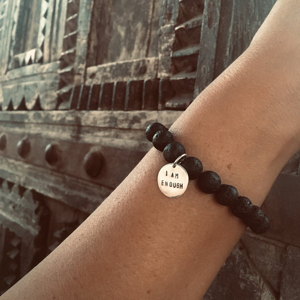 I am who I am and I am Enough Affirmation Bracelets