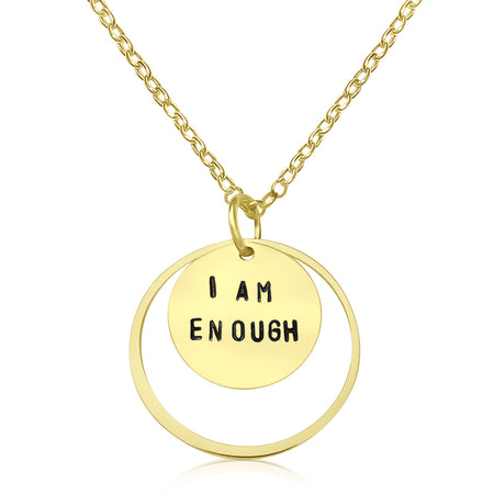 Inspirational One Day at a Time Necklace (Gold Filled)