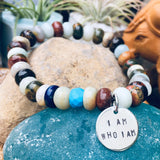 I am who I am - Affirmation Bracelet