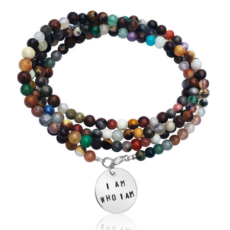 Mermaid Soul - Wrap Bracelet Combo with Labradorite, Pearl and Tourmaline