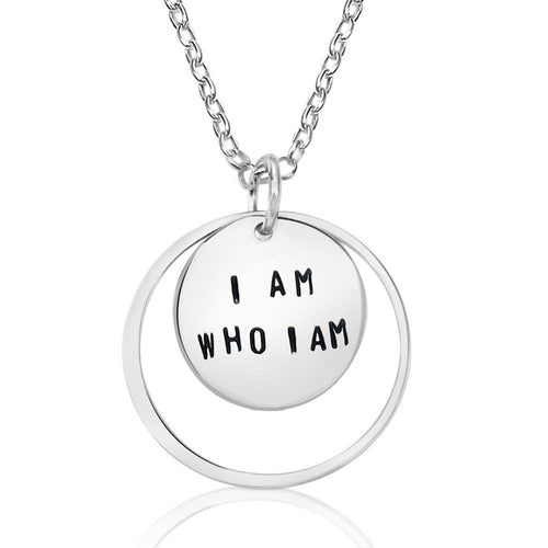 I am who I am - Sterling Silver Affirmation Necklace