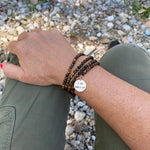 I am who I am Affirmation Wrap Bracelet with Tiger Eye