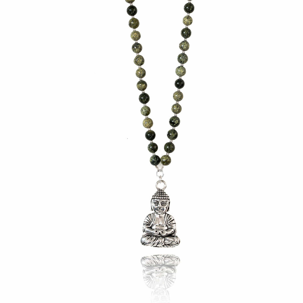 gift jewelry handmade jade with precious necklace aventurine botswana stones semi green of brown