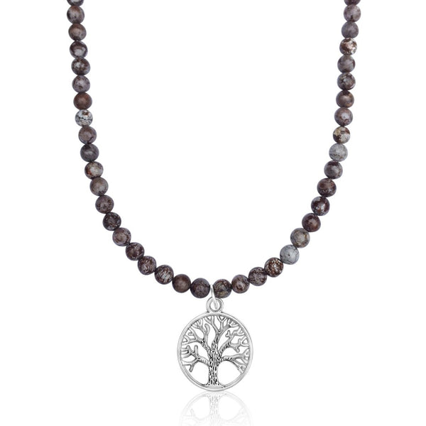 Fancy Jasper Tree of Life Necklace