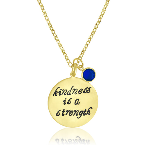 Kindness is a Strength Gold Necklace, Kindness Wins Jewelry