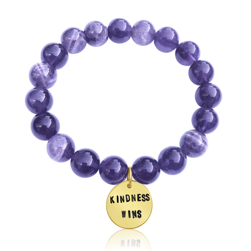 Kindness Wins Amethyst Bracelet, Kindness Wins Jewelry, Kindness Wins Bracelet