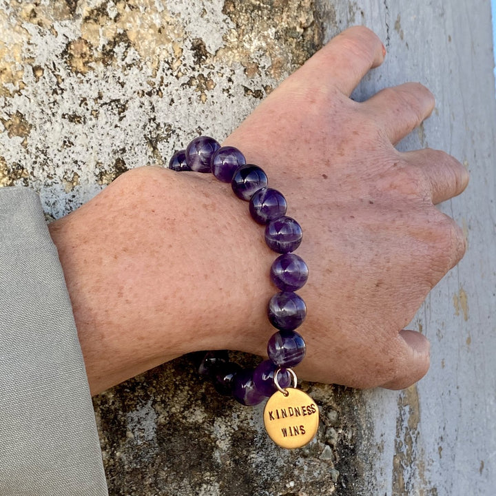 Kindness Wins Amethyst Bracelet