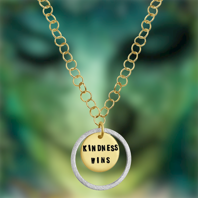 Kindness is a Strength Necklace - Kindness Wins Jewelry