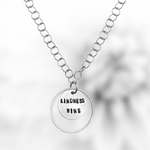 Kindness is a Strength Necklace, Sterling Silver Kindness Wins Jewelry