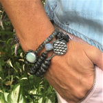 Labradorite Crystal Bracelet Trio for a Positive Change in Your Life