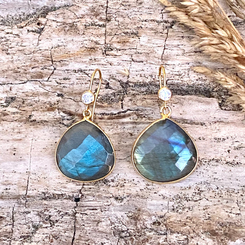 Labradorite Earrings for Change