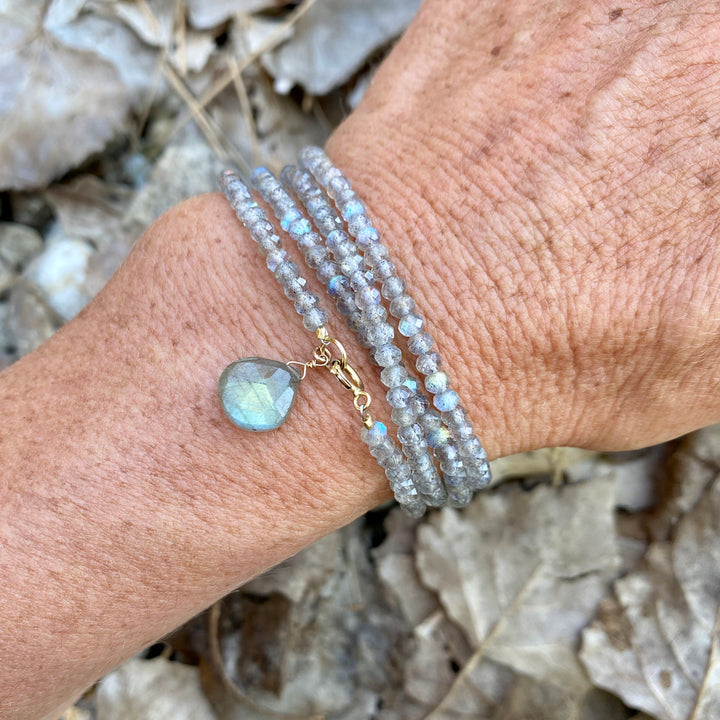 Labradorite Wrap Bracelet for a Positive Change in Your Life.