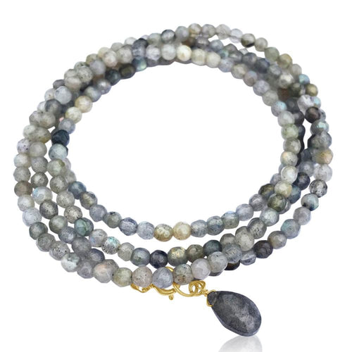 Labradorite Wrap Bracelet for a Positive Change in Your Life.  They say Labradorite stones contain energies that will boost ones ability to repel anxiety and depression, and inspire the wearer with a sense of enthusiasm and self-confidence.