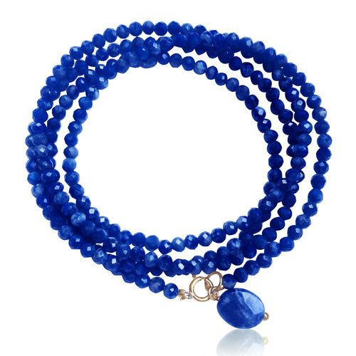 Lapis Lazuli Wrap Bracelet to Bring Self Awareness