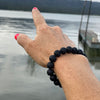 Lava Stone Bracelet for Calming Emotions.. Our Mindfulness Jewelry is designed with traditional methods, minding chakras and healing. Lava stone is excellent for calming emotions thanks to its grounding qualities. Great accessory for Aroma Therapy. Holds essential oils for 8 hours.