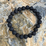 Lava Stone Bracelet for Calming Emotions