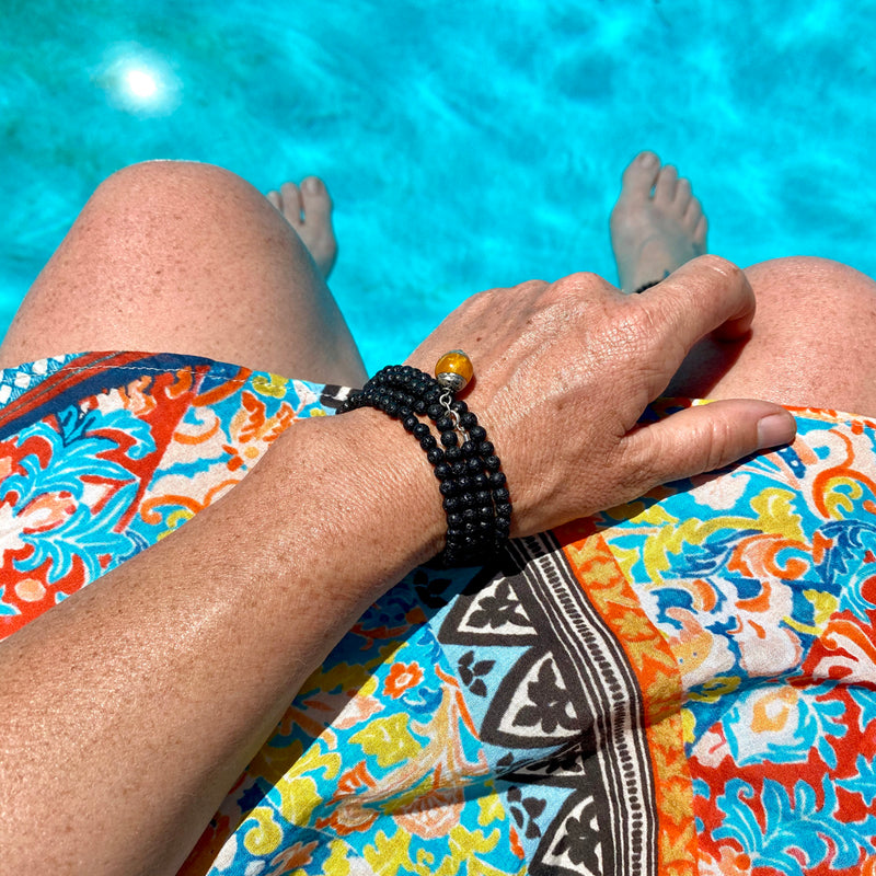 Lava Stone Wrap Bracelet for Calming Emotions