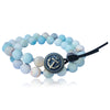 Amazonite Wrap Bracelet with Anchor to Help Keep a Clear Mind