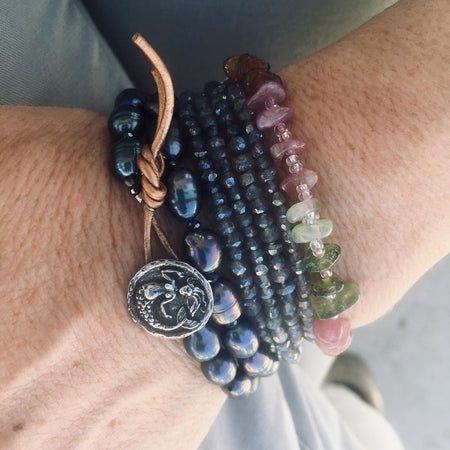 Sparkle & Wood Wrap Bracelet Combo