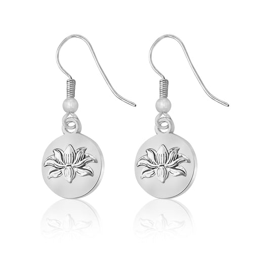 Lotus Flower Earrings for Self-Regeneration