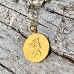 Gold Filled Sitting Mermaid Ocean Inspired Necklace from the Miss Scuba Jewelry Collection.