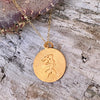 Gold Filled Sitting Mermaid Ocean Inspired Necklace from the Miss Scuba Jewelry Collection