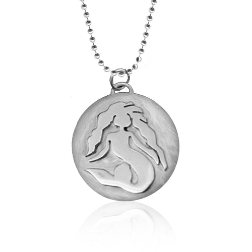 Sterling Silver Standing Mermaid Ocean Inspired Necklace from the Miss Scuba Jewelry Collection
