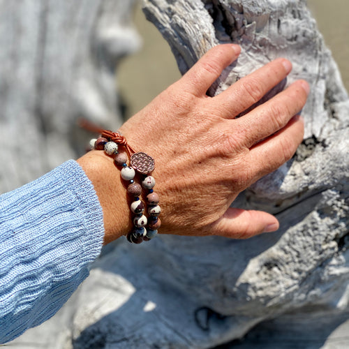 Mind Body and Spirit Jasper Wrap Bracelet for Manifesting Your True Desires