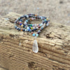 Mother Earth Healing Crystals Mindfulness Necklace with Sea Glass to support change that comes from within from Gogh Jewelry Design.