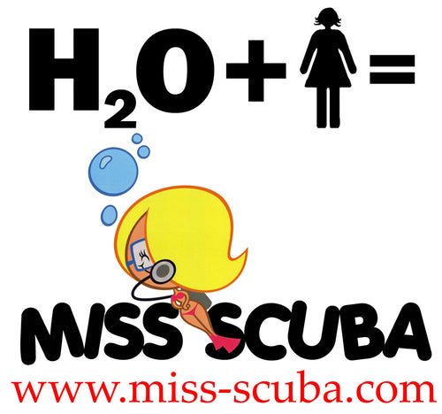 Get a FREE Miss Scuba Sticker!