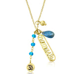 Gold Namaste Yoga Necklace