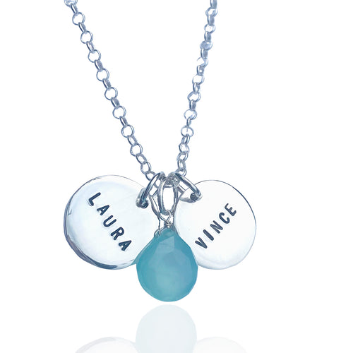 Personalized Sterling Silver Name Charm Necklace
